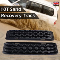 2Pcs Black Recovery Board Sand Mud Snow Tracks Tire Ladder Fit for Off Road Vehicle Car Recovery Tracks 106 x 30 x 5cm