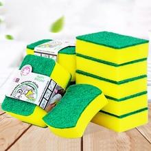 10 pièces haute densité éponge cuisine outils de nettoyage serviettes de lavage chiffons dessuyage éponge tampon à récurer microfibre plat chiffon de nettoyage