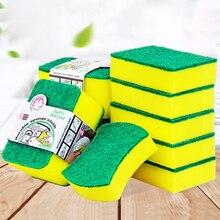 10 sztuk gąbka o dużej gęstości narzędzia do czyszczenia kuchni ręczniki do mycia ścierki gąbka z drapakiem ściereczka z mikrofibry do mycia naczyń