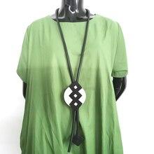 Accesorios de cuero vikingo YD & YDBZ, collar con colgante de hoja de aluminio, nuevos collares de goma Vintage de estilo largo para mujer, gargantilla de amor