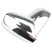 Dla Peugeot 307 drzwi lusterko boczne Chrome pokrywa widok z tyłu Cap akcesoria
