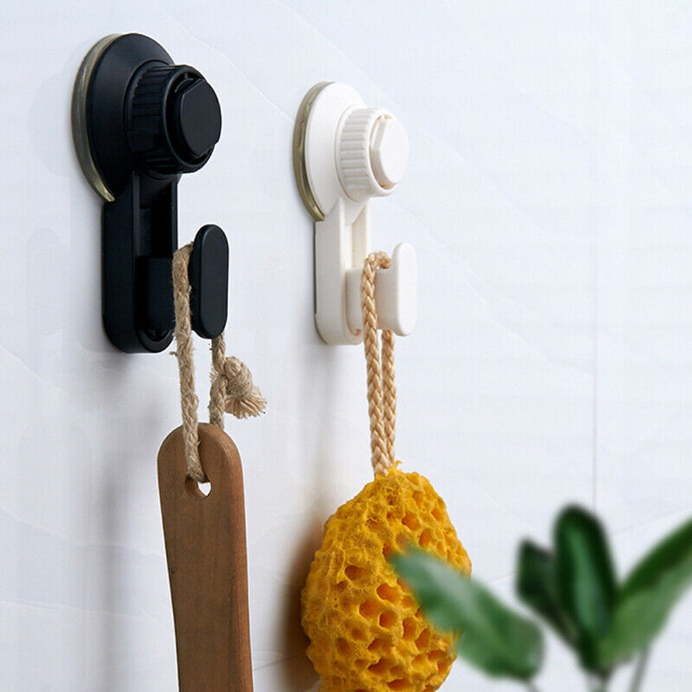 2PCS Bathroom Wall Heavy Load Strong Waterproof Reusable Towel Kitchen Powerful Suction Cup Hooks Hanging Tool Vacuum Holder