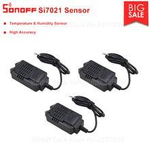 Itead 3 ADET Sonoff Si7021 Sıcaklık ve Nem Yüksek Doğruluk Sensörü Modülü Ile Uyumlu Sonoff TH10/TH16 Uzaktan Kumanda