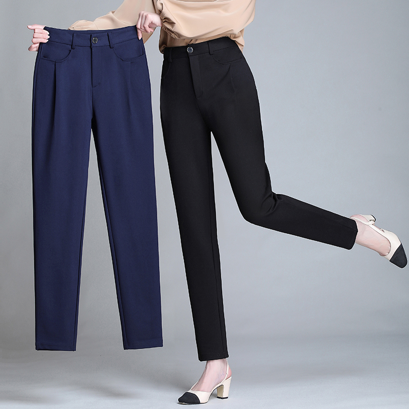 Women harem pants <font><b>pantalones</b></font> <font><b>mujer</b></font> elastic high waist causal trousers women pants Plus size M-XXXL <font><b>4XL</b></font> 5XL black dark blue image