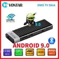 Smart 4K Android 9,0 caja de TV X96S TV Stick Amlogic S905Y2 DDR3 4GB 32GB X96 Mini PC 5G WiFi Bluetooth 4,2 TV Dongle reproductor de medios