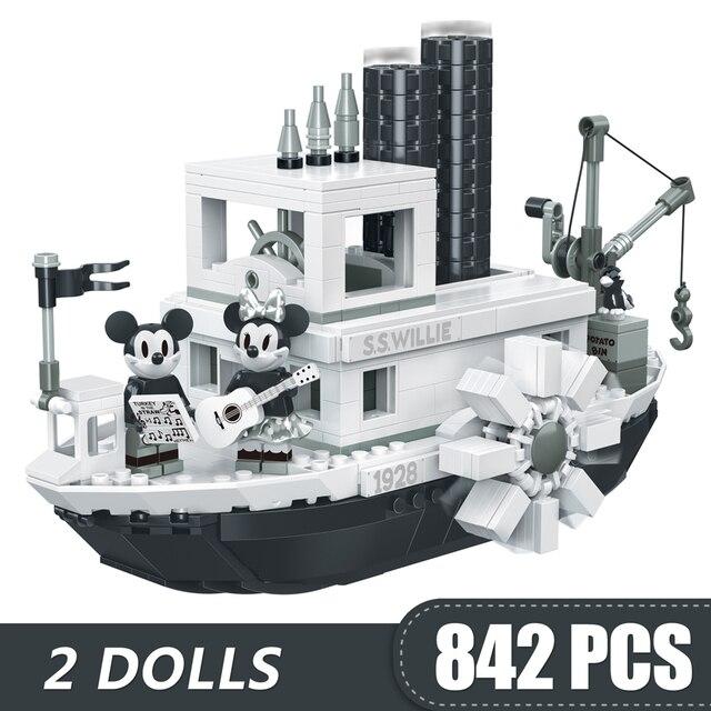842PCS קטן אבני בניין צעצועי תואם Lepinging מיקי מיני סטימבוט ווילי מתנה עבור בנות בני ילדי DIY