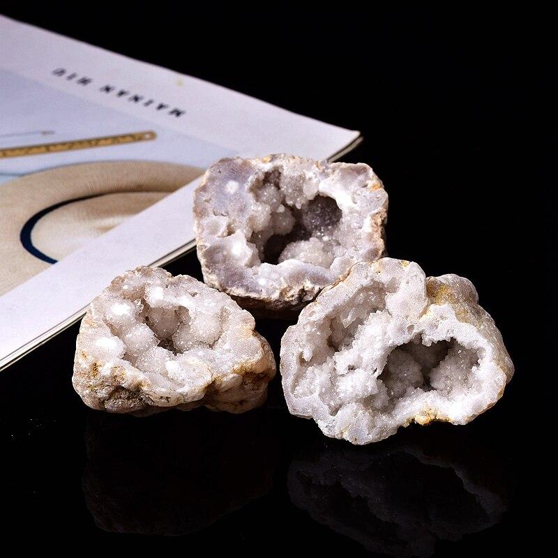1 шт. натуральный кристаллический Агат Geode резки с украшением в виде кристаллов кластера Исцеление камень, реики рудных образец кварца «сдел...