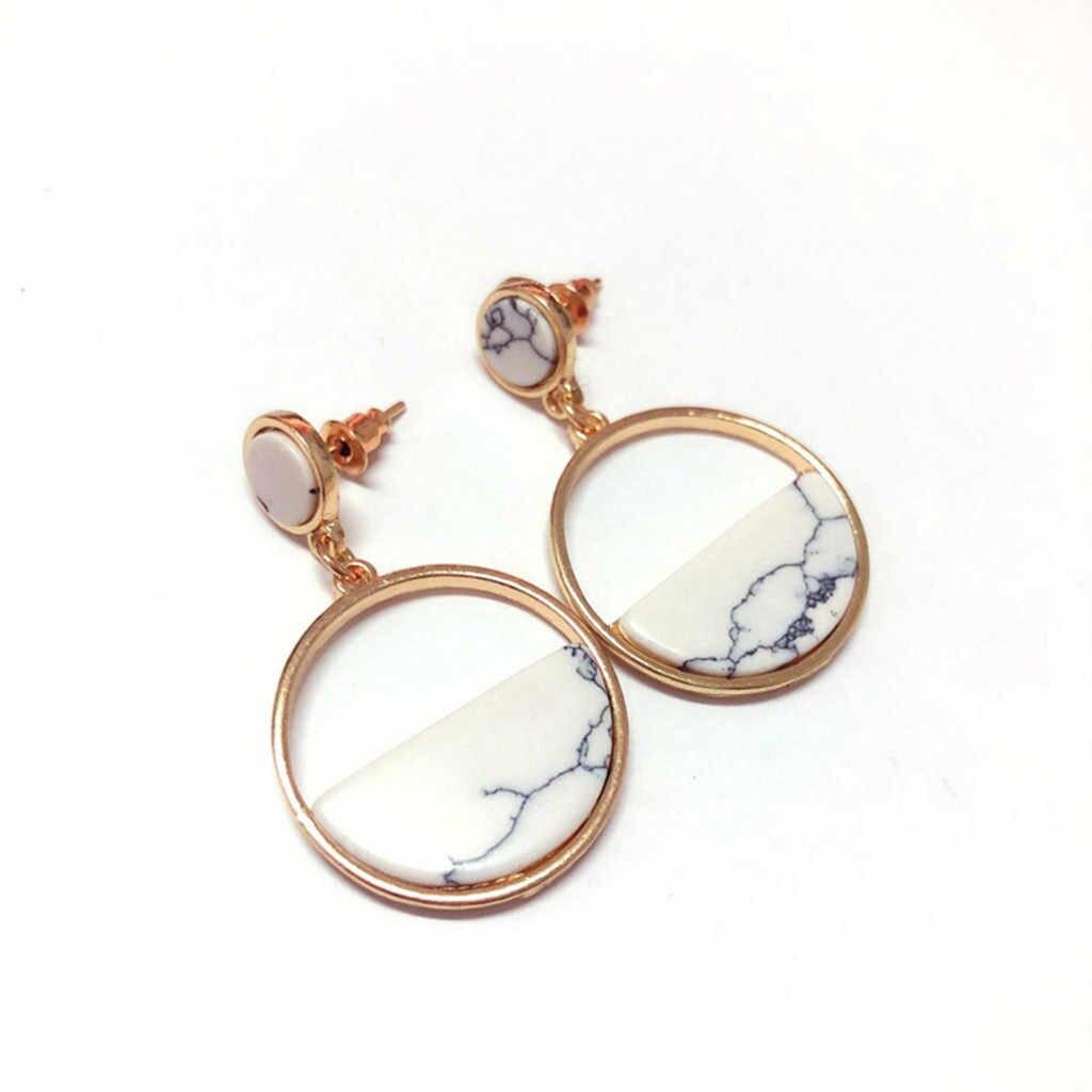 Orecchini di lusso per le donne Dell'annata Marmo Classico Selvaggio Geometrici Orecchini Rotondi Signore Earing monili di modo regali per le donne