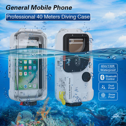 Bluetooth Diving phone Case For General Mobile Phone Waterproof Phone Housing Protective Cover For Iphone HuaWei Sumsung 1pc