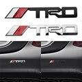 1 шт. автомобильный Стайлинг черный, серебристый цвет 3D автомобиля логотип TRD эмблемы Стикеры Металлическая Наклейка для Toyota Camry Corolla Yaris авто...