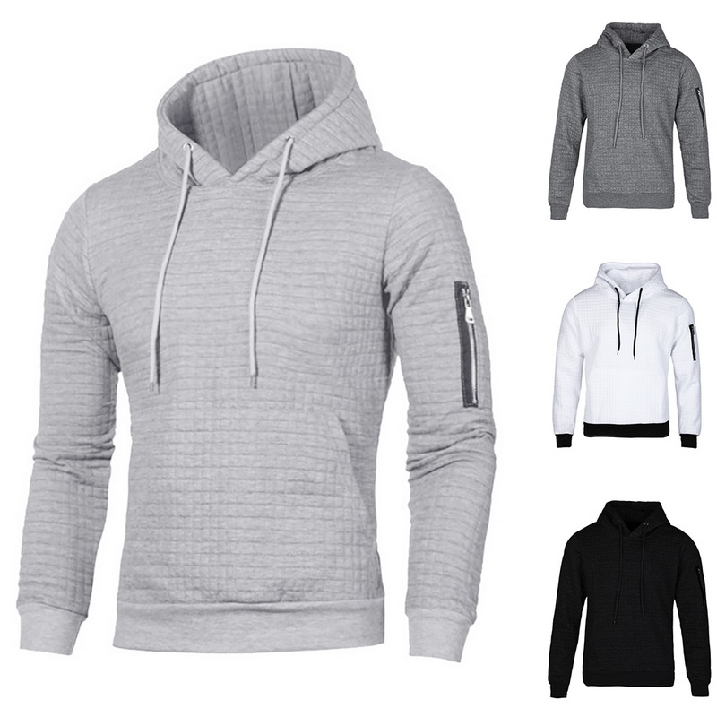 2019 New Autumn Winter Fashion Sweater Men Solid Pullovers Slim Fit Jumpers Men Casual Hooded Sweater Warm Femme Men Clothes