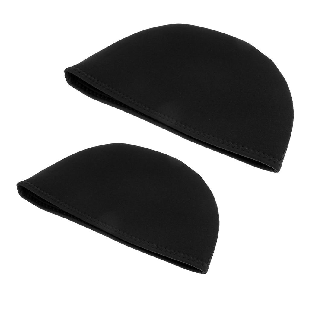 2Pcs Men Women 2mm Neoprene Beanie Hat, Cycling Surf Kayak Swim Walking Rafting Canoe Swimming Cap