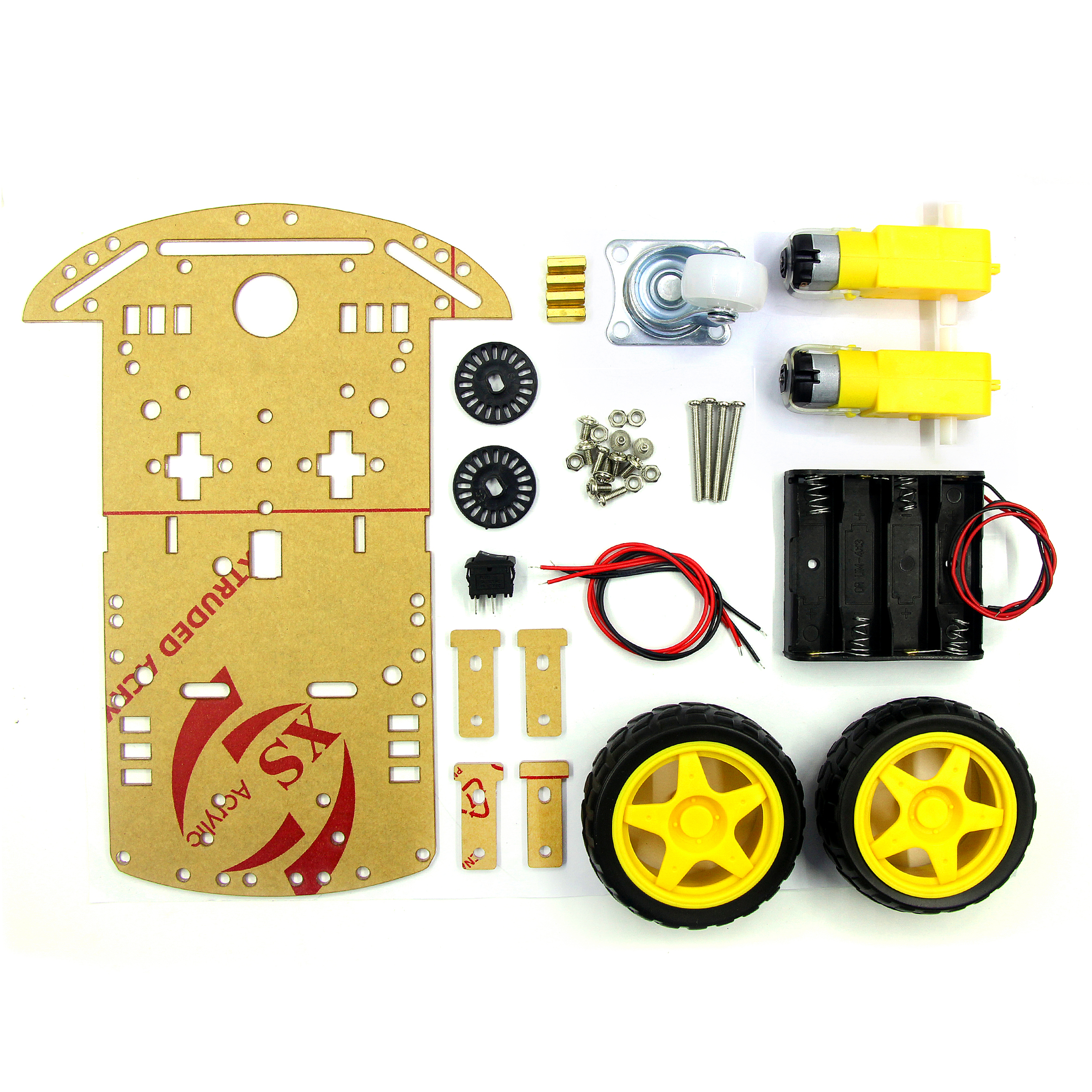 Starter Kit Smart Roboter Auto Chassis Kit Motor Geschwindigkeit Encoder Batterie Box 2WD 4WD Ultraschall Modul für arduino Diy Kit
