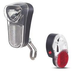 Zestaw świateł rowerowych oneture Stvzo LED reflektor rowerowy 80 Lux zainstalowany na widelcu i akumulatorze AAA Taillight na błotnik w Akcesoria do rowerów elektrycznych od Sport i rozrywka na
