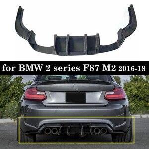 Image 1 - Racing Rear Bumper Diffuser Lip Carbon Fiber For 2 series F87 M2 2016 18