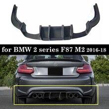 Yarış arka tampon difüzör dudak karbon Fiber 2 serisi F87 M2 2016 18
