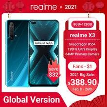 Realme x3 мобильный телефон Глобальная версия суперзум 8 ГБ