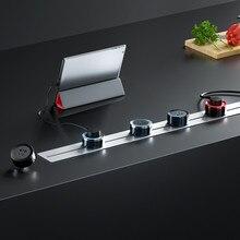 Livolo Pop Orbital Buchse Abnehmbare Drahtlose Mobile Fünf-loch Power Schiene Kostenloser Schiebe Für Küche Drehen Boden Draht Weichen