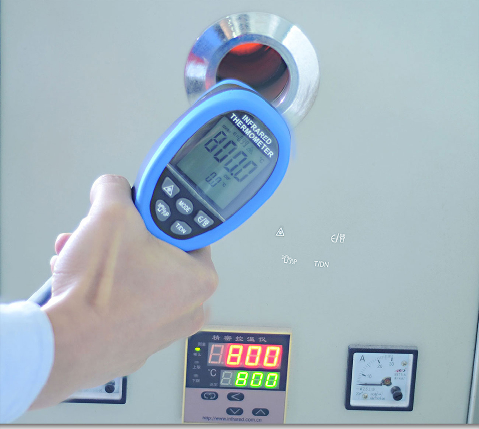 HOLDPEAk HP 1320 Non Contact Infrared Thermometer LCD Display and High Temperature Alarm 12
