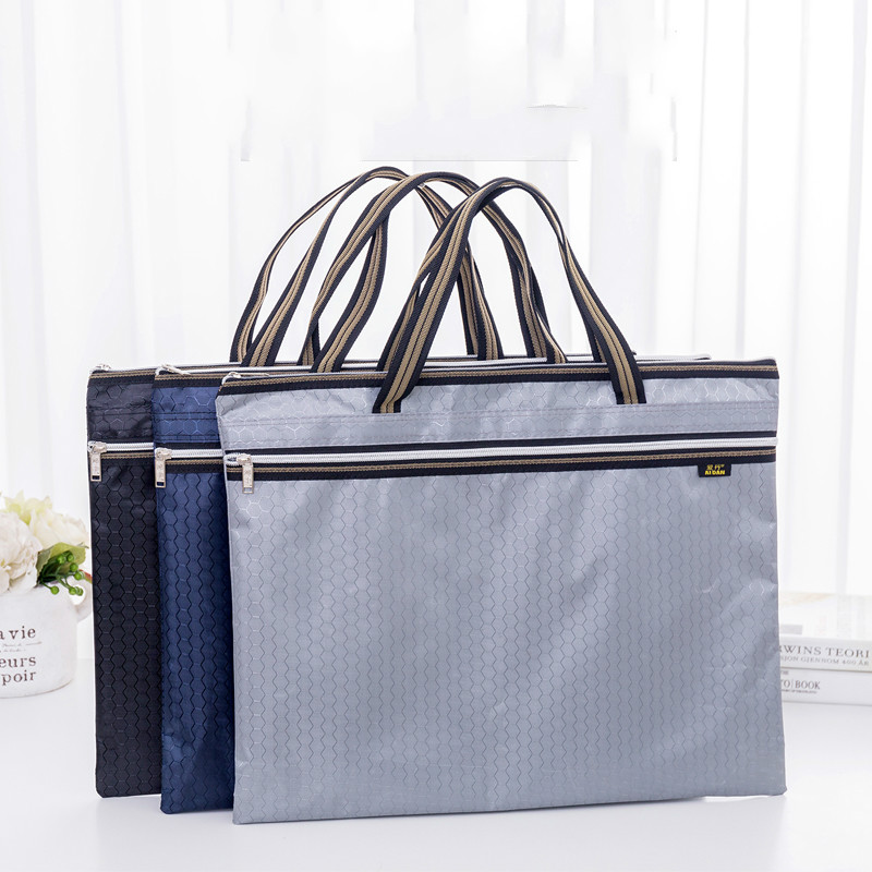 A3 Briefcase Storage Bag 8K Drawing Board Art Sketch Bag Oxford Cloth Large Capacity Zipper Waterproof Student Office Handbag