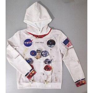 Image 4 - Sudaderas con capucha Amstrong para niños, trajes espaciadores, sudaderas de manga larga para Primavera, ropa Infantil para adolescentes, 2020