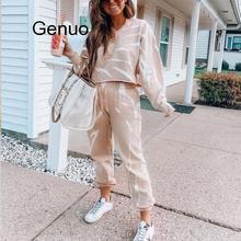 Women Tie-dye Jogger Suit Hoodies Tops And Pants Two Piece Set