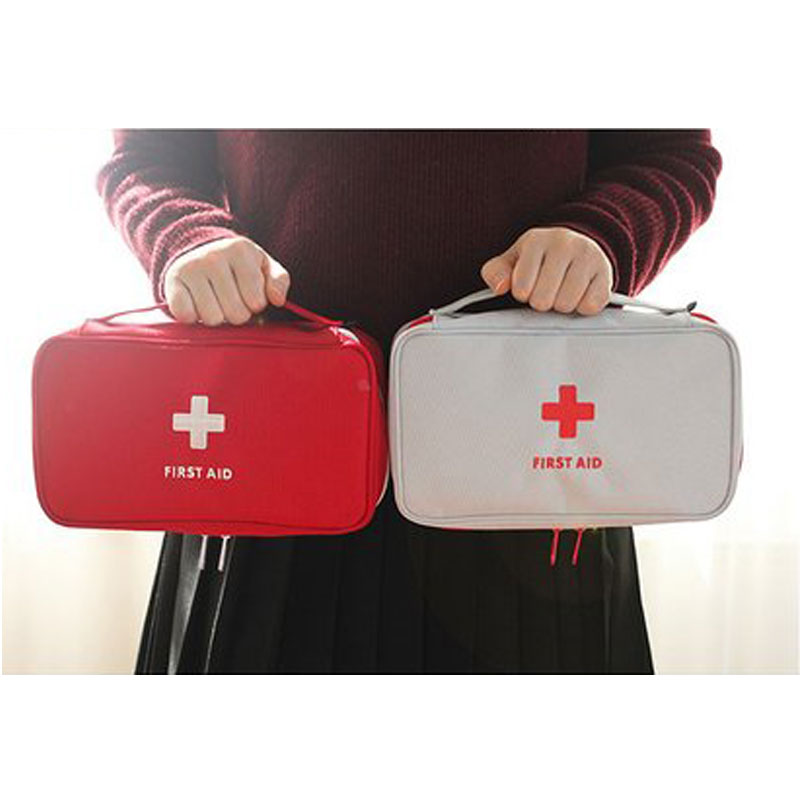 Size Large Oxford Fabric Travel Medicine Packing Organizers Big Capacity Lockable Zipper First Aid Pouch