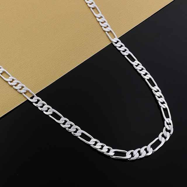 925 Silver Necklace Three Rooms One Ferrero Necklace Silver Chain Men&Women Silver Necklace Fashion Classic Jewelry 4MM 4