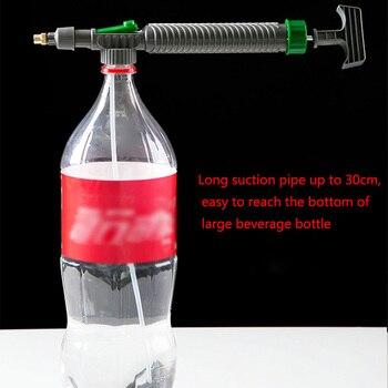 Manual Sprayer High Pressure Air Pump Adjustable Drink Bottle Spray Head Nozzle Portable Plastic Sprayer Garden Watering Tools