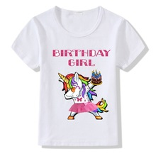 Girls T-shirt Colours 9 Printed Unicorn Short Sleeve Shirt  Little Clothing Boys Kids Clothes Tops Costume Pony Tee