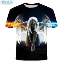 Men clothing in 2019 brand t shirt summer round neck short-sleeved one piece rice white man dragon ball