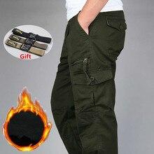 Gli Uomini di Inverno Caldo di Spessore Pantaloni a Doppio Strato in Pile Militare Esercito Camuffamento Tattico Cotone Pantaloni Lunghi Degli Uomini Pantaloni Larghi Cargo