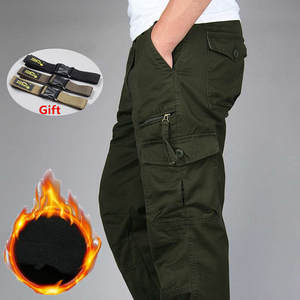 Thick Pants Long-Trousers Military Fleece Army Warm Tactical Baggy Camouflage Men's Winter