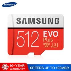 SAMSUNG Memory Card Micro SD 256GB 32GB 64GB 128GB 512G SDHC SDXC Grade EVO+ Class 10 C10 UHS TF SD Cards Trans Flash Microsd