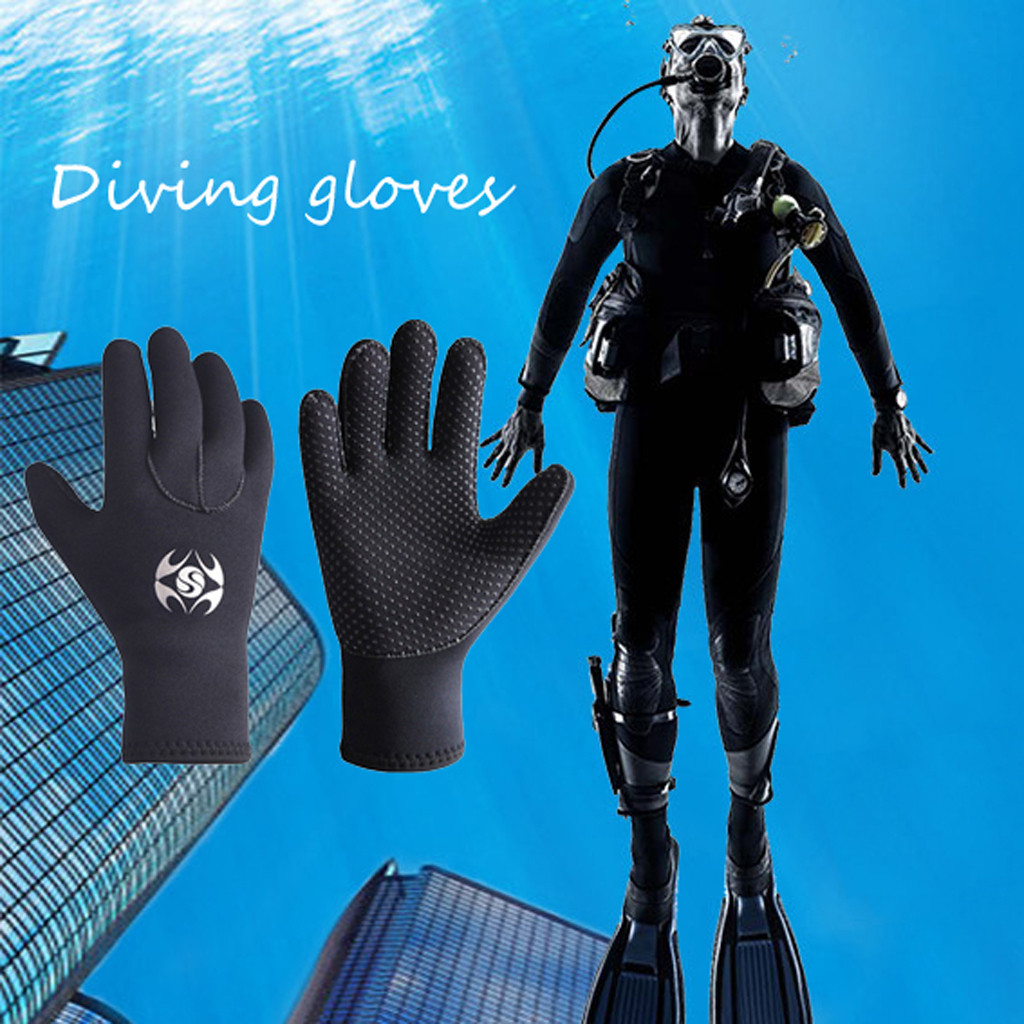 Unisex Vogue Gloves Keep Diving Surfing 3MM Neoprene Cold-proof Winter Swim Swimming Scuba Snorkeling Diving Gloves Rashguard #F