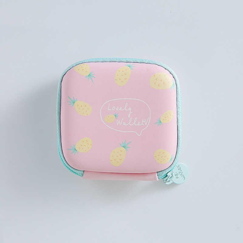 Cartoon kobiety portmonetka portfel śliczny zestaw słuchawkowy torba dla dzieci kobiet zamek klucz ochronny słuchawki linii torby z zapięciem organizer na kable USB
