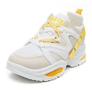Image 1 - Chun Bụng Sneakers Nữ Vulcanize Giày Đế Phẳng Giày Thể Thao Với Các Nền Tảng Giày Nữ Giày Nữ Giày Thể Thao Tenis Feminino
