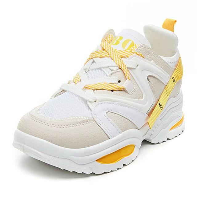 Chun Bụng Sneakers Nữ Vulcanize Giày Đế Phẳng Giày Thể Thao Với Các Nền Tảng Giày Nữ Giày Nữ Giày Thể Thao Tenis Feminino