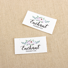 75 Custom Iron Labels,  Logo or Text, Design, iron on, Design,flowers Labels (TB0103)