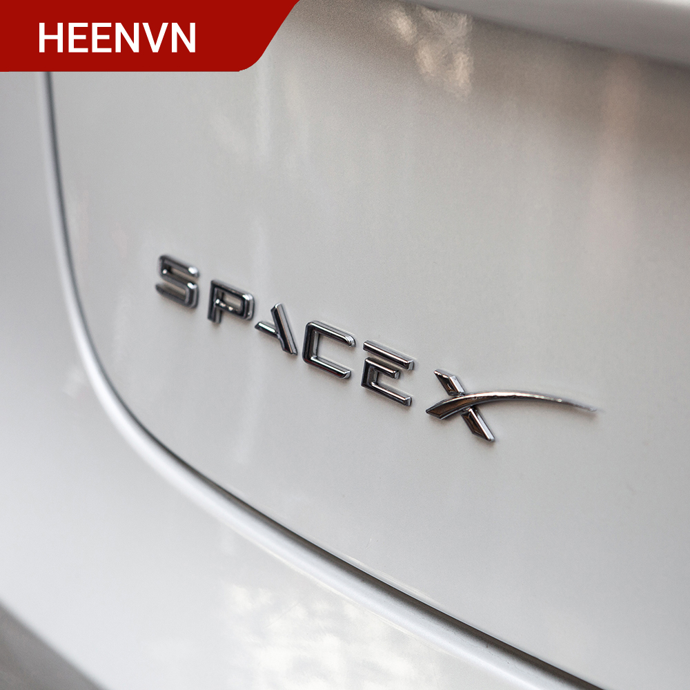 Heenvn Model3 Space X Sticker For Tesla Model 3 Letters Tail Letter Label Car Accessories For Tesla Model S Three Y Dual Logo