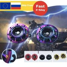 Chifre do carro 12v 140db super alto universal grade chifre novo fresco esquema de cores modificação da motocicleta do carro chifre de eletricidade