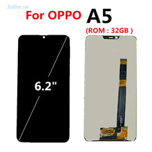 For OPPO A5 LCD ( ROM : 32GB) LCD Display with Touch Screen Digitizer Replacement screen for oppo A 5 lcd Display Assembly