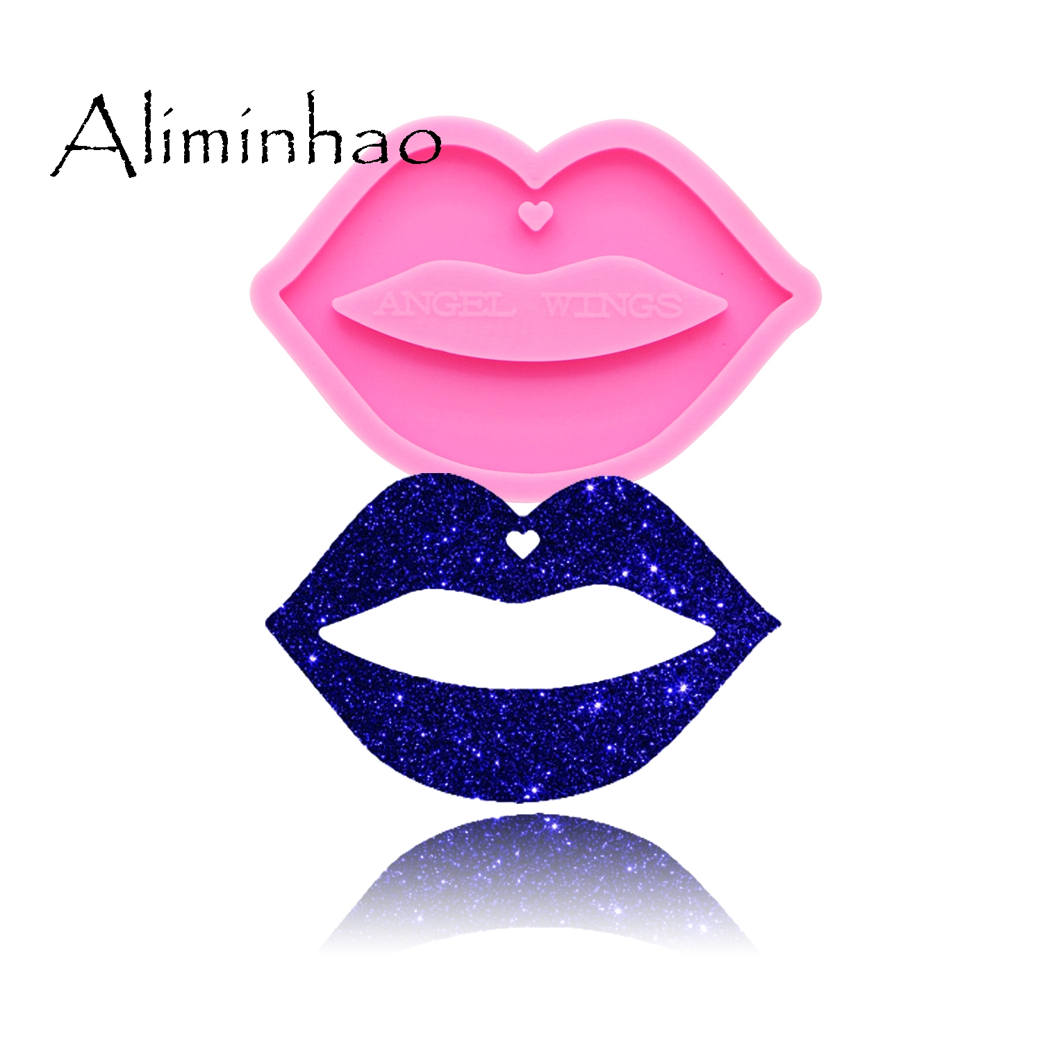 DY0170 Shiny Lips Silicone Molds DIY epoxy resin mould silicon mouth keychain craft custom mold