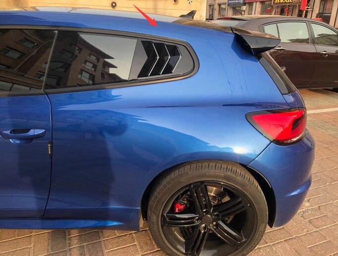 Pour Volkswagen Scirocco persienne décoration extérieure becquet ABS matériel fibre de carbone peinture couleur 2013-2018
