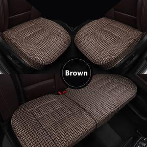 Image 5 - Leinen auto sitz deckt den gesamten sommer kissen paket die neue vier jahreszeiten universal auto sitz abdeckung tuch sitzt set spezielle cush