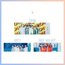 1 stuk Kpop ZEVENTIEN EXO GOT7 IKON RODE FLUWELEN Concert Ondersteuning Hand Banner Stof Hang Up Poster Voor Fans Collection gift(China)