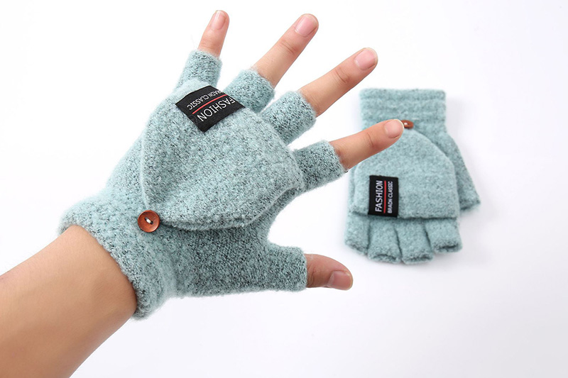 6 Pairs Winter Knit Touch Screen Gloves Full Finger Mittens with Jacquard Design