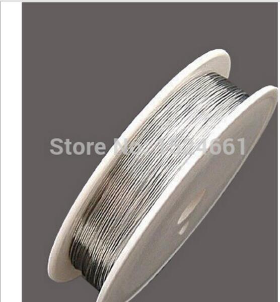 0.2/0.25/0.3/0.4/0.5/0.6/0.8/1.0mm 1 Roll Silver Color Tone Steel Beading Wire  Watch Watches Jewelry Findings Wire Cords Rope