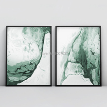 Abstract Forest Green Wall Art Hand Painted Green Oil Painting Marble Agate Canvas Minimalist Modern Decoration for Living Room 2020 christmas gift modern paintings abstract gold oil painting 100% hand painted on canvas for living room decoration wall art