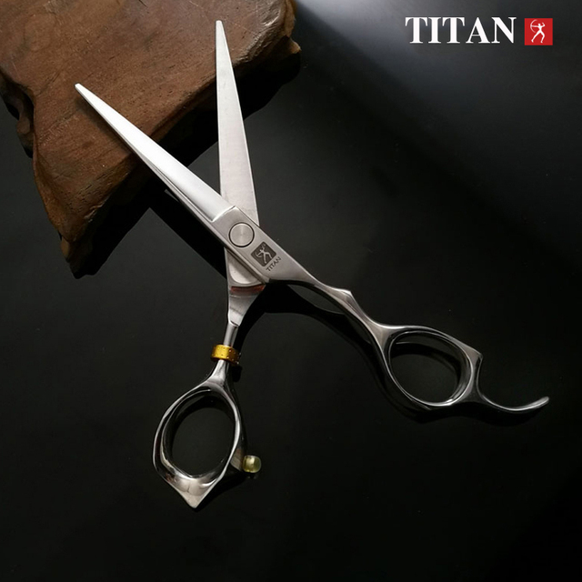 free shipping titan  Professional barber tools hair scissor 5